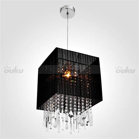 black crystal pendant light new black drum crystal flush mount pendant lighting