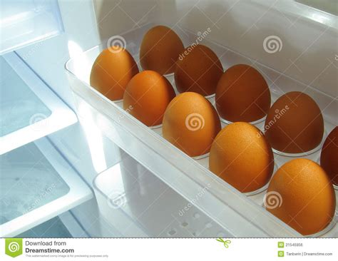 eggs in refrigerator royalty free stock image image