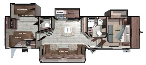 fifth wheel rv floor plans fifth wheels inc also 2 bedroom 5th wheel floor