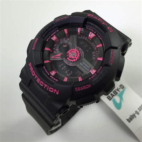 casio baby g black and pink ani digi ba111 1a ebay