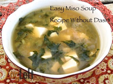 easy miso soup without dashi recipe
