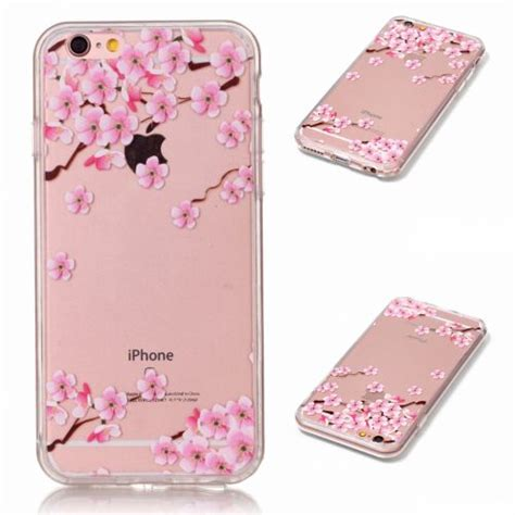 Casing Bunga Iphone 6 6s Softcase Flowers Slim Clear Iphone6 fashion flower pattern slim clear pc back cover for iphone 5 6 6s plus ebay