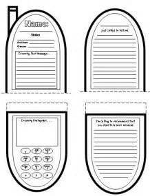 Cell Phone Template by Cell Phone Book Report Project Templates Worksheets