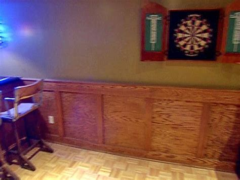 Oak Wainscoting Ideas How To Install Oak Stile And Rail Wainscoting Basement