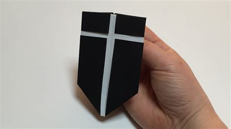 How To Make A Paper Shield Easy - how to make a paper shield origami shield tutorial