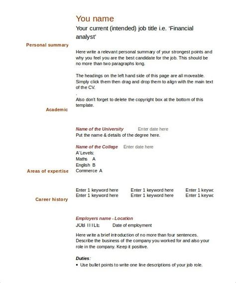 free resume format download in ms word blank resume format in ms word listmachinepro