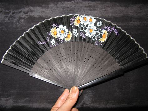 held folding fans held fans painted fans folding fan antique