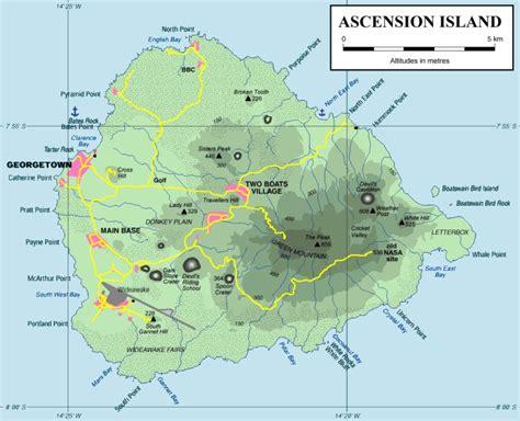ascension island map ascension island map