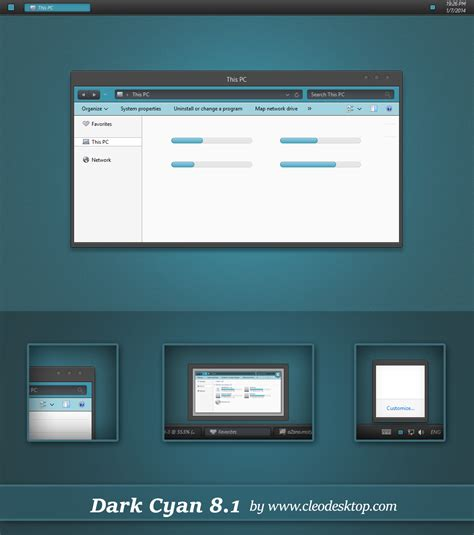 themes for windows 8 1 mac dark cyan theme windows 8 1 by cleodesktop on deviantart
