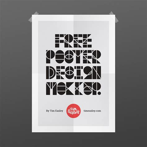 design poster free free poster design mockup on behance