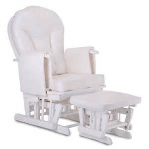 white wood white cushions supremo bambino nursing glider