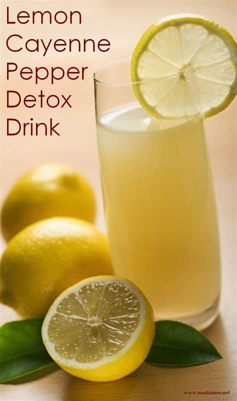 Lemon Drink For Detox by Lemon Cayenne Pepper Detox Drink