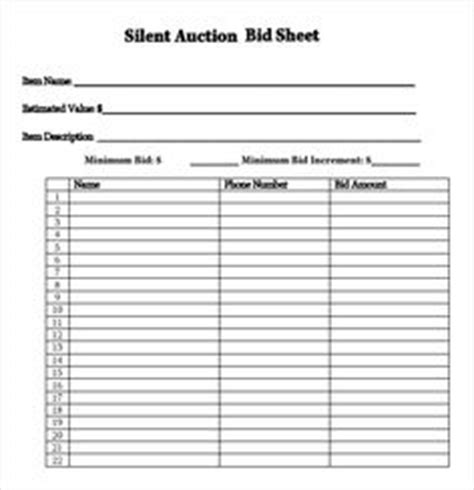 charity auction receipt template silent auction bid sheet template search silent