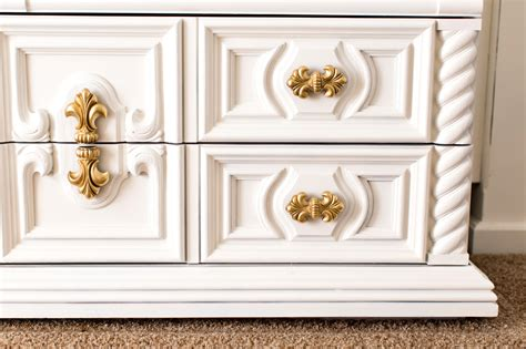 gold dresser white and gold dresser master bedroom part 1 clutter