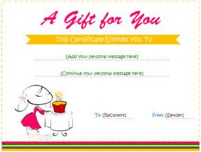 happy birthday gift certificate template birthday gift certificate templates for and boys