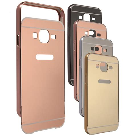 aluminum metal frame pc mirror back cover for samsung