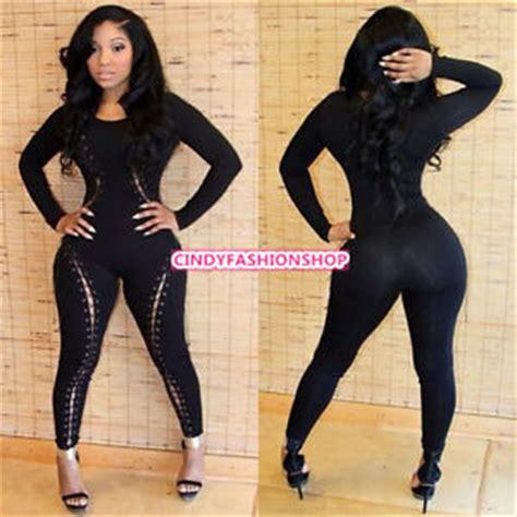 New Hot Sexy European Women?s Bandage Dress Catsuit Jumpsuit Clubwear USA   eBay
