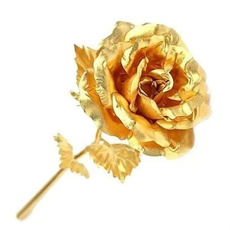birthday wedding gift gold plated rose lovers