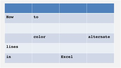 how to alternate colors in excel how to color alternate lines in excel excel the grid