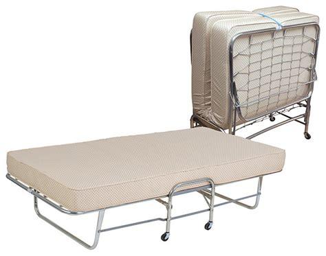 twin folding bed folding rollaway bed twin size with 6 inch foam mattress