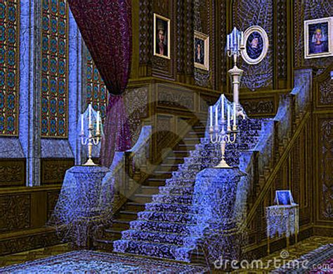 interior  spooky mansion royalty  stock photo