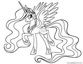 alicorn coloring pages mlp princess base by randomdraggon