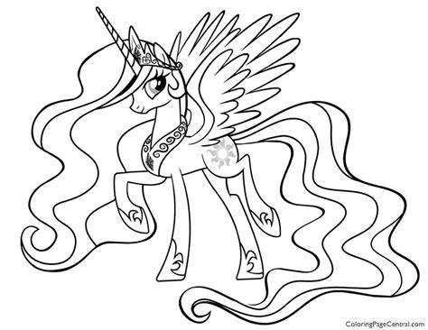 coloring page my little pony celestia my little pony princess celestia 01 coloring page