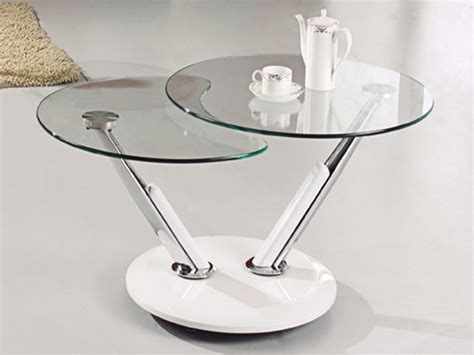 Coffee Table: enchanting round glass side table Glass End
