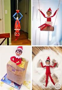 Elves On A Shelf Ideas by On The Shelf Ideas Activities