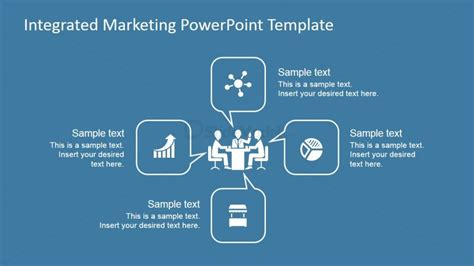 integrated marketing process diagram for powerpoint