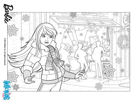 barbie skipper coloring pages barbie preparing christmas coloring pages hellokids com