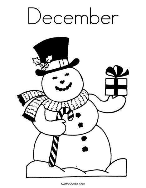 december coloring pages kindergarten december coloring page twisty noodle