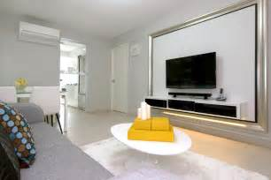 beautiful Feature Wall Tv Console Singapore #6: 1f-White-gray-yellow-living-room.jpeg
