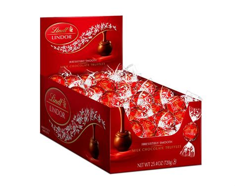 60ct box of milk chocolate lindt lindor truffles only 10