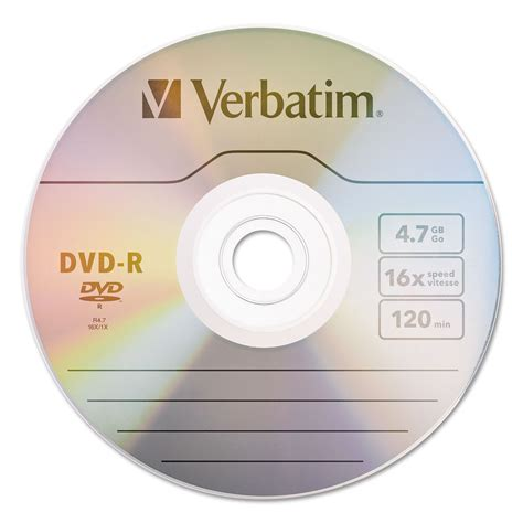 Dijamin Verbatim Dvd R 16x dvd r discs by verbatim 174 ver95102 ontimesupplies