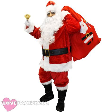 deluxe santa costume 12 piece father christmas quality