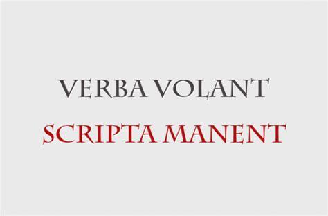 verba volant scripta verba volant scripta manent b b website tool