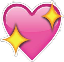 pink emoji heart png