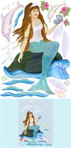 Mermaid Wall Murals Mermaid Haven Create A Wall Mural