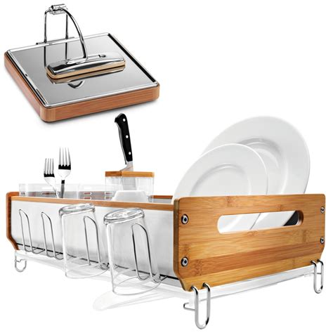Simplehuman Dish Rack Bamboo by Large Image