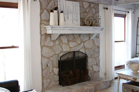 stone fireplaces how to paint a stone fireplace white fireplace design ideas