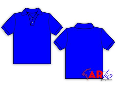 design kaos polo shirt kaos biru polos clipart best