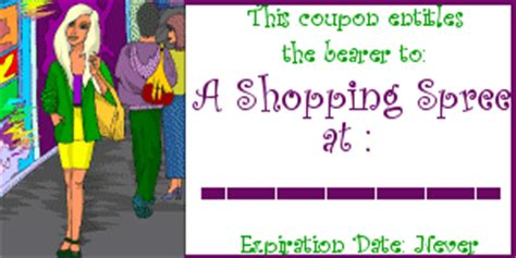 shopping spree certificate template get free printable coupons now