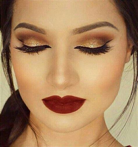 imagenes de ojos y labios maquillados las 25 mejores ideas sobre maquillaje de ojos dorados en