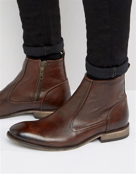 asos chelsea boots asos asos chelsea boots in brown leather with