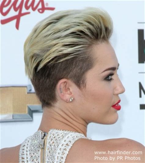 picturs of miley cyrus pink haircut front back and sides miley cyrus extremely short hairstyle with the hair