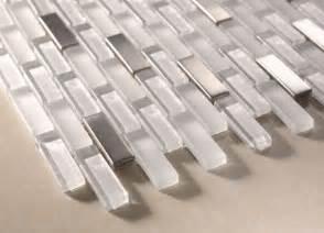 sicily snow white brick steel glass mosaic 12x12 tile