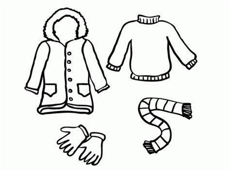 coloring page of winter clothes winter clothes coloring pages colouring pictures 607792