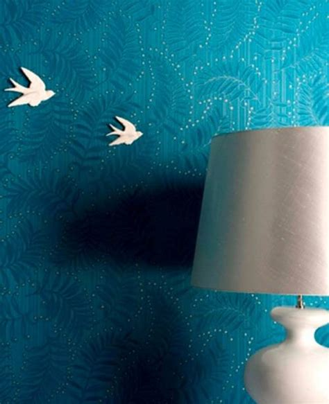 Teal Wallpaper Interior Design by Teal Wallpaper Interior Design The Interior Design