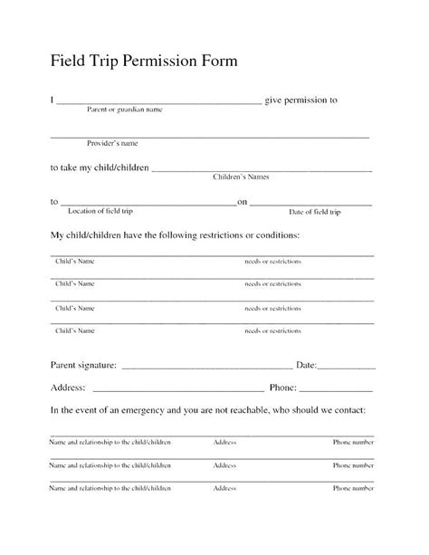 generic consent form template generic consent form template exercise forms